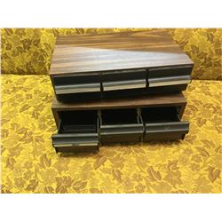 LOT OF 2 CASSETTE TAPE DRAWERS