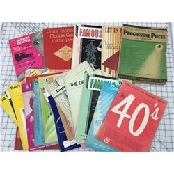 LOT OF VINTAGE PIANO BOOKS AND SHEET MUSIC