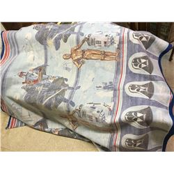 "VINTAGE STAR WARS THE EMPIRE STRIKES BACK BLANKET 68"" X 84"""