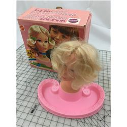 VINTAGE BARBIE QUICK CURL BEAUTY CENTER (HEAD AND BOX ONLY)