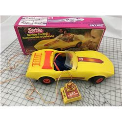 VINTAGE BARBIE SUPER VETTE REMOTE CONTROL CAR WITH BOX (UNTESTED)