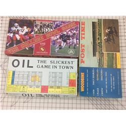 VINTAGE BOARD GAMES * POST TIME, VCR COLLEGE BOWL, OIL *