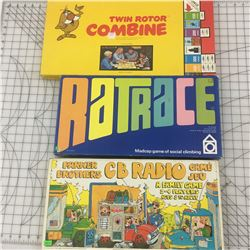 VINTAGE BOARD GAMES * TWIN COMBINE, RATRACE, CB RADIO *