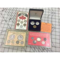VARIOUS COINS IN CASES * INCLUDING SOME SILVER *