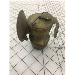 "ANTIQUE BRASS ""GUYS DROPPER"" MINERS LANTERN"