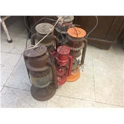LOT OF BARN LANTERNS (ROUGHER CONDITION)