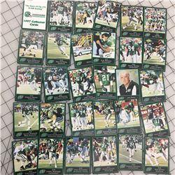 FULL SET 1997 SASKATCHEWAN ROUGHRIDERS PRICE WATCHERS COLLECTOR CARDS