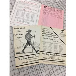1947-48 BOY SCOUTS ASSOCIATION OFFICIAL CATALOGUE 32 PAGES