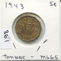 1943 CNDN 5 CENT PC (TOMBAC)