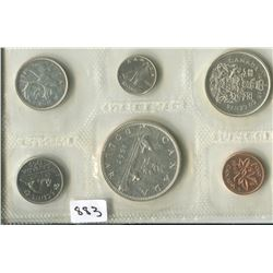 1965 CNDN PROOF (6 PC, PENNY TO DOLLAR)