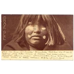 Mohave Girl. Rich gravure by E. S. Curtis, C. 1904.