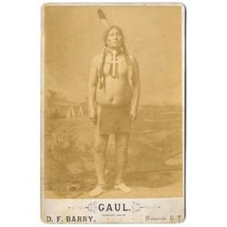 Gaul. Cabinet Card by D. F. Barry, Bismarck, D.T. C. 1894.