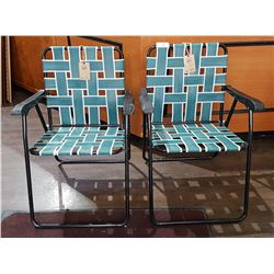 2 CARIBOO BEER LAWN CHAIRS