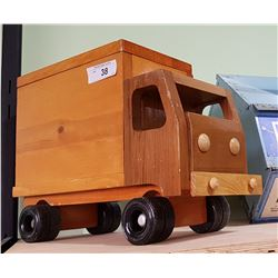 HAND CRAFTED WOOD TOY TRUCK