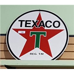 TEXACO DOUBLE SIDED METAL SIGN