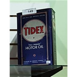 VINTAGE TIDEX MOTOR OIL 1G CAN