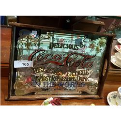 VINTAGE COCA COLA MIRROR SERVING TRAY