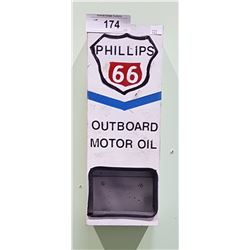 PHILLIPS 66 OUTBOARD MOTOR OIL METAL WALL DISPLAY