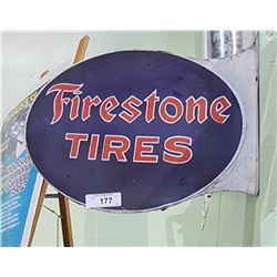 FIRESTONE TIRES FLANGE SIGN