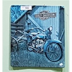 EMBOSSED HARLEY DAVIDSON METAL SIGN