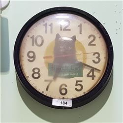 BLACK CAT TOBACCO CLOCK