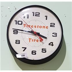 FIRESTONE TIRES METAL CLOCK