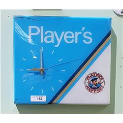 PLAYER'S NAVY CUT TOBACCO CLOCK IN PLASTIC