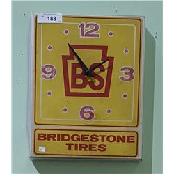 VINTAGE BRIDGESTONE TIRES METAL CLOCK