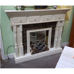 VINTAGE PAINTED FIREPLACE SURROUND W/4 DRAWERS