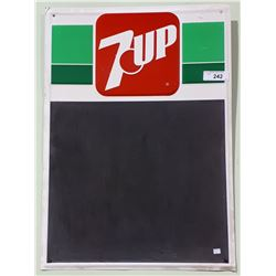 VINTAGE 7UP TIN CHALKBOARD