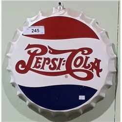PEPSI COLA METAL BOTTLECAP SIGN