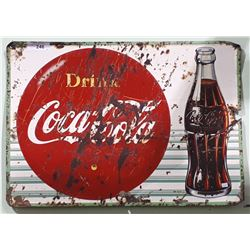 1956 COCA COLA METAL SIGN