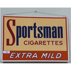 VINTAGE SPORTSMAN CIGARETTES TIN SIGN