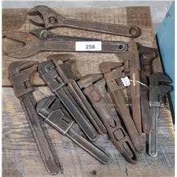 11 ANTIQUE WRENCHES