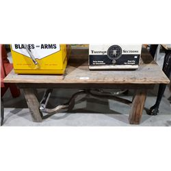 RUSTIC BARNWOOD COFFEE TABLE W/DRIFTWOOD ACCENTS