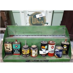 CUSTOM MADE WHIZ METAL DISPLAY STAND