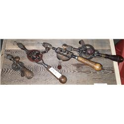 4 ANTIQUE HAND DRILLS