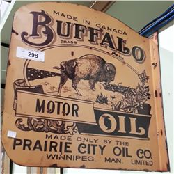 BUFFALO MOTOR OIL FLANGE SIGN