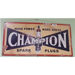 CHAMPION SPARK PLUGS METAL SIGN