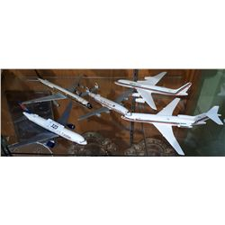 5 PLASTIC MODEL AIRPLANES