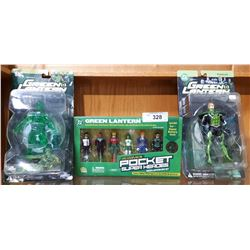 3 GREEN LANTERN ACTION FIGURE SETS