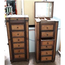 PAIR JEWELRY CABINETS