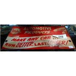 WHIZ AUTOMOTIVE PRODUCTS TIN SIGN