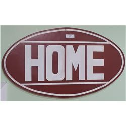 HOME OIL STEEL SIGN