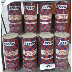 8 VINTAGE STEED RADIATOR CONDITIONER TINS