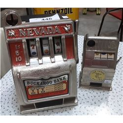 2 MINIATURE SLOT MACHINES