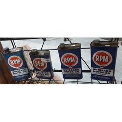 4 VINTAGE RPM OUTBOARD MOTOR OIL QUARTS