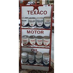 TEXACO MOTOR OIL RACK