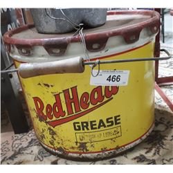 VINTAGE REDHEAD GREASE PAIL