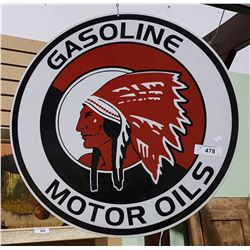 RED INDIAN DOUBLE SIDED METAL SIGN